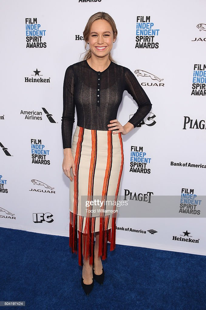 Brie Larson attends the 2016 Film Independent Filmmaker Grant And Spirit Award Nominees Brunch at BOA Steakhouse on January 9 2016 in West Hollywood...