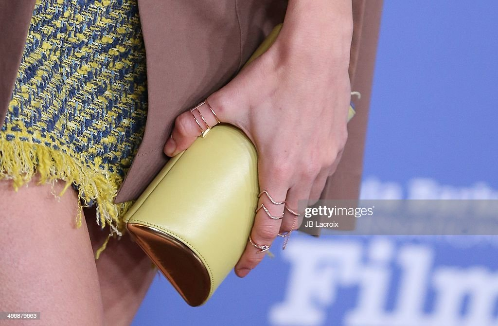 <a gi-track='captionPersonalityLinkClicked' href=/galleries/search?phrase=Brie+Larson&family=editorial&specificpeople=171226 ng-click='$event.stopPropagation()'>Brie Larson</a> (ring detail/clutch detail) attends the 29th Santa Barbara International Film Festival - Virtuosos Award Ceremony at Arlington Theatre on February 4, 2014 in Santa Barbara, California.