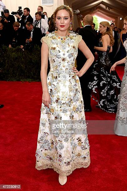Brie Larson attends the 'China Through The Looking Glass' Costume Institute Benefit Gala at the Metropolitan Museum of Art on May 4 2015 in New York...