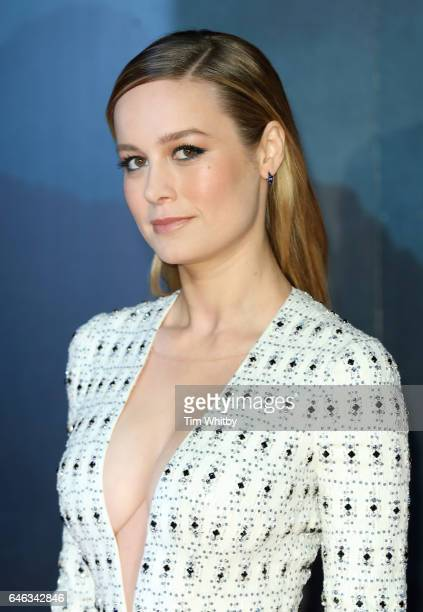 Brie Larson attends the European premiere Of Kong Skull Island at Cineworld Leicester Sqaure on February 28 2017 in London United Kingdom