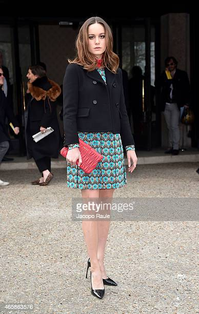 Brie Larson attends the Miu Miu show as part of Paris Fashion Week Fall Winter 2015/2016 on March 11 2015 in Paris France