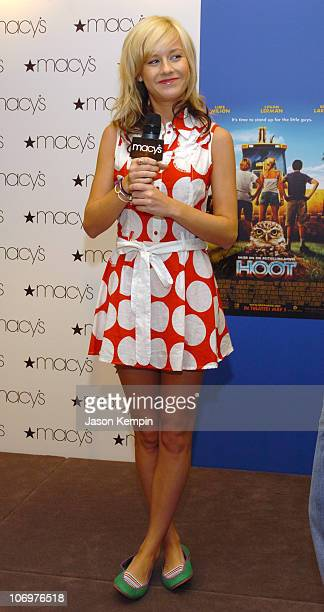 Brie Larson during Brie Larson And Cody Linley From The Movie 'Hoot' Apearance At Macy's In New York City at Macy's in New York City New York United...