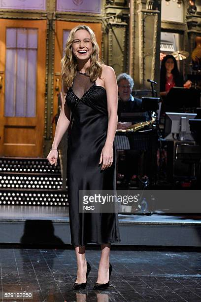 LIVE 'Brie Larson' Episode 1702 Pictured Brie Larson during the monologue on May 7 2016