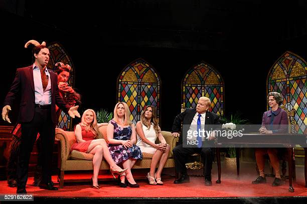 LIVE 'Brie Larson' Episode 1702 Pictured Taran Killam as Senator Ted Cruz Jon Rudnitsky Kate McKinnon Vanessa Bayer as Ivanka Trump Cecily Strong as...