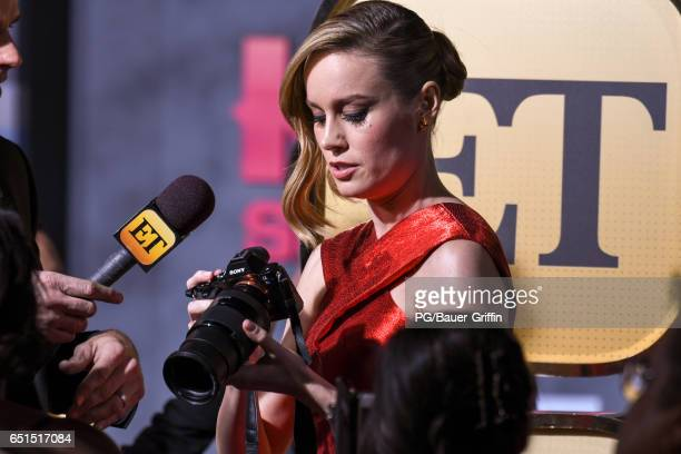 Brie Larson is seen arriving at the premiere of Kong Skull Island on March 08 2017 in Los Angeles California