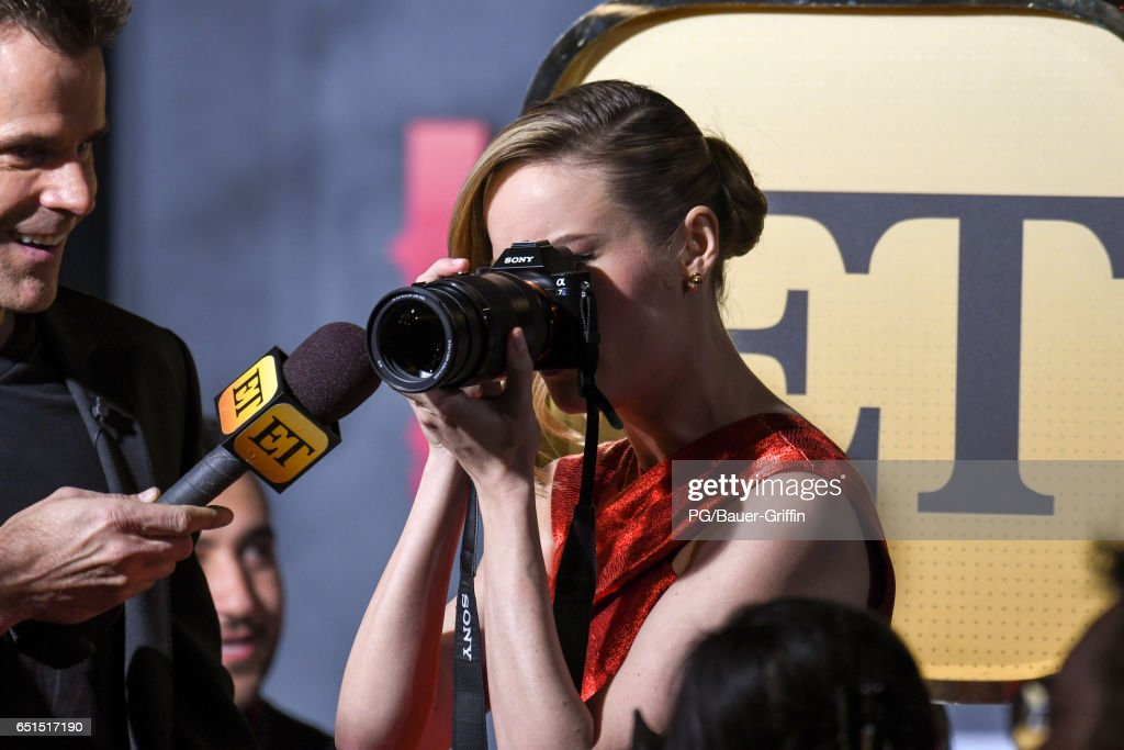 Brie Larson is seen arriving at the premiere of Kong: Skull Island on March 08, 2017 in Los Angeles, California.