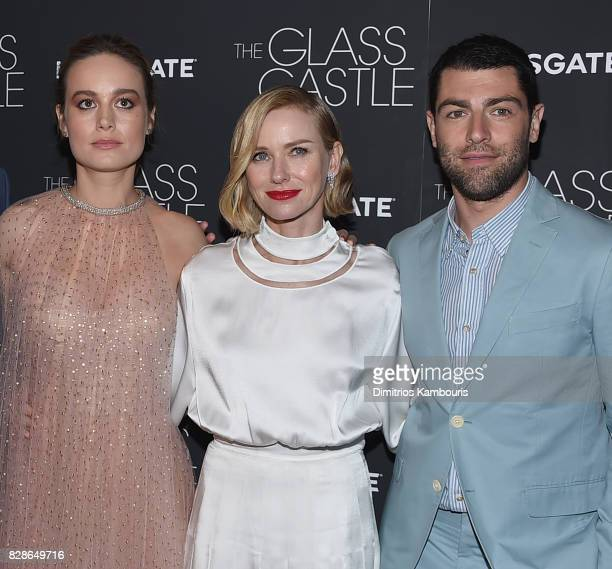 Brie Larson Naomi Watts and Max Greenfield attend the 'The Glass Castle' New York Screening at SVA Theatre on August 9 2017 in New York City