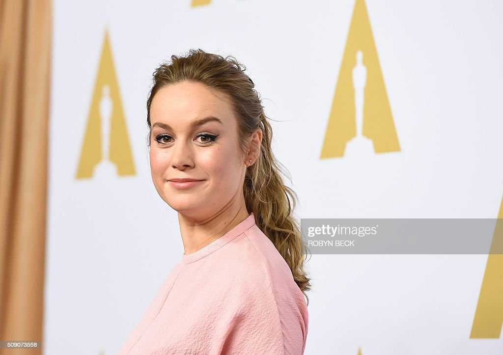 Brie Larson, nominee for best actress in a leading Role for the 'Room,' arrives at the 88th Oscar Nominees Luncheon in Beverly Hills, California, February 8, 2016. / AFP / Robyn Beck