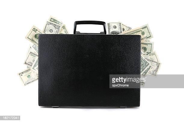 Pasta executiva cheia de dinheiro
