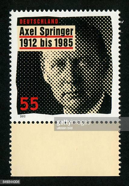 Briefmarke 2012 100 Geburtstag Axel Springer