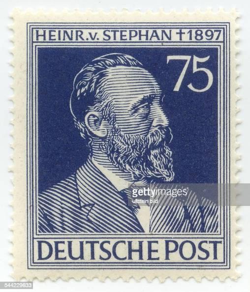 Brief Nach Hamburg Briefmarke : Briefmarke deutschland deutsche post heinrich von