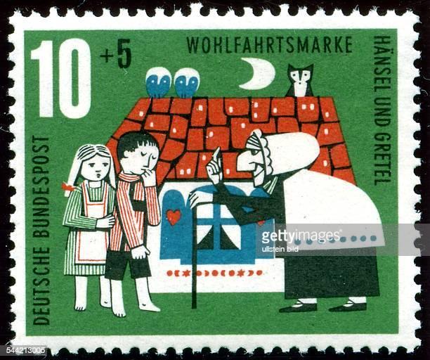 Briefmarke Wohlfahrtsmarke Deutsche Post Bundespost Märchen Gebrüder Grimm Hänsel und Gretel