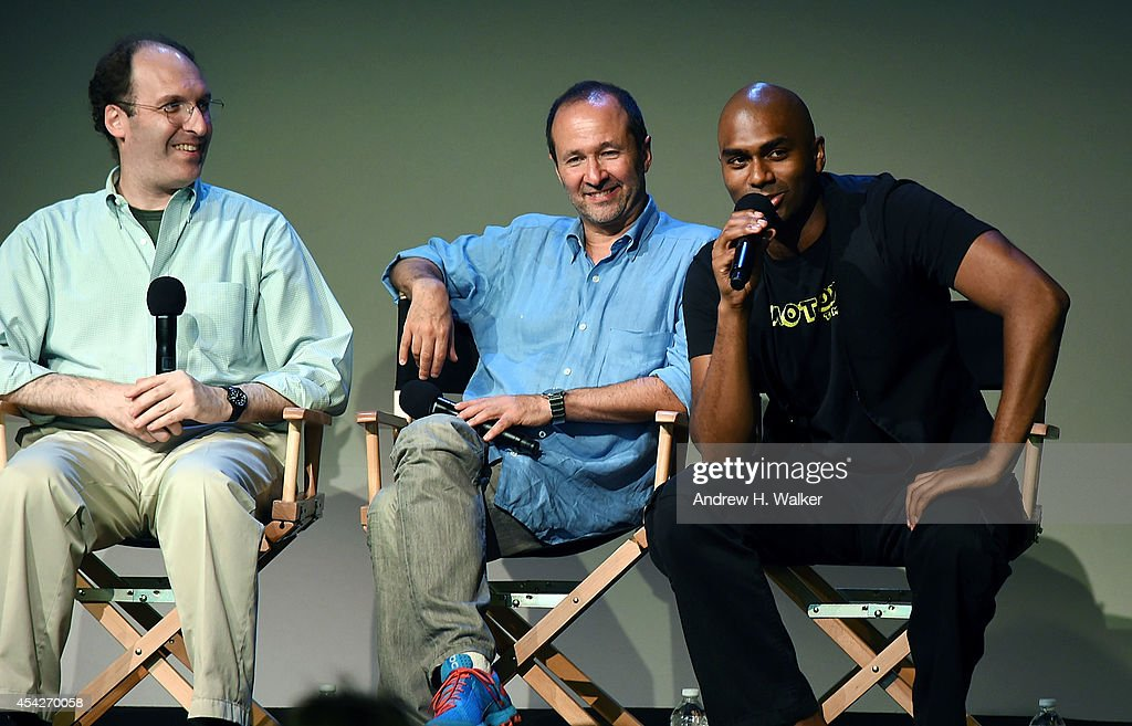 Brig Berney, Steven Lutvak and Nik Walker attend the Launching Your Career On Broadway panel discussion at the Apple Store Soho on August 27, 2014 in New York City.