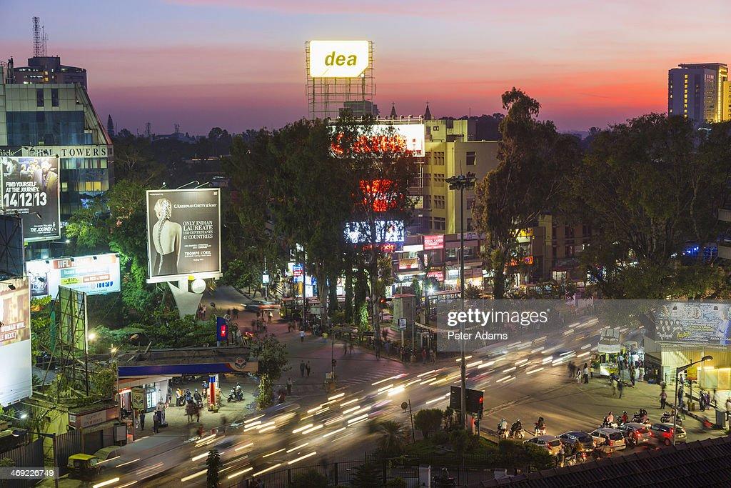 Brigade Road at Dusk, Bangalore, Karnataka, India