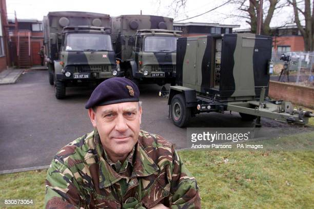 Brigadier Alex Birtwhistle of 42 NorthWest Brigade who is in charge of all the army's involvement connected with footandmouth disease outbreak in...