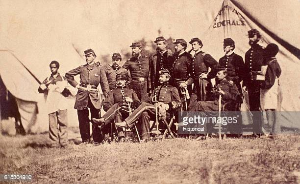Brigadier General Alfred Torbert poses with his staff ca 1864 Torbert was a general of cavalry under Major General Philip Sheridan