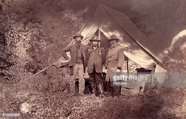 Brigadier General David A Russell stands with Generals TH Neill and John H Martindale Russell was killed September 19 1864