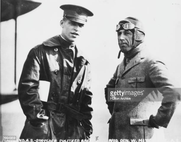 Brigadier General William 'Billy' Mitchell a passionate advocate of American airpower during World War I Next to Mitchell is A S Maitland