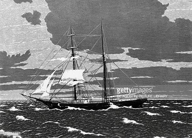 Brigantine the Mary Celeste commanded by Benjamin Briggs found unmanned drifting towards the Strait of Gibraltar in 1872 19th century