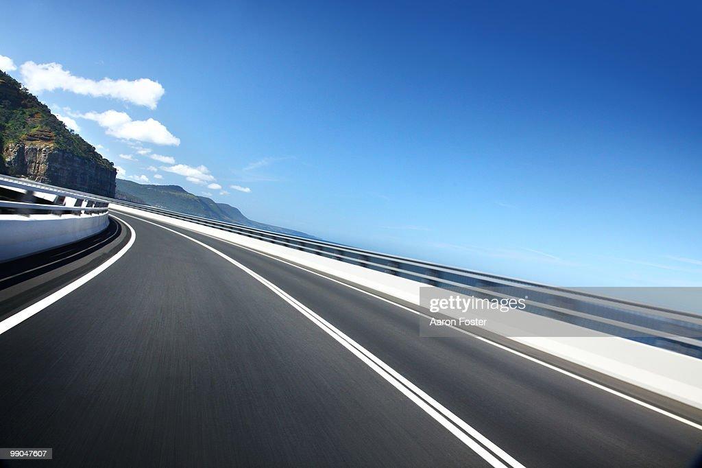 Brigde Road in Motion : Stock Photo