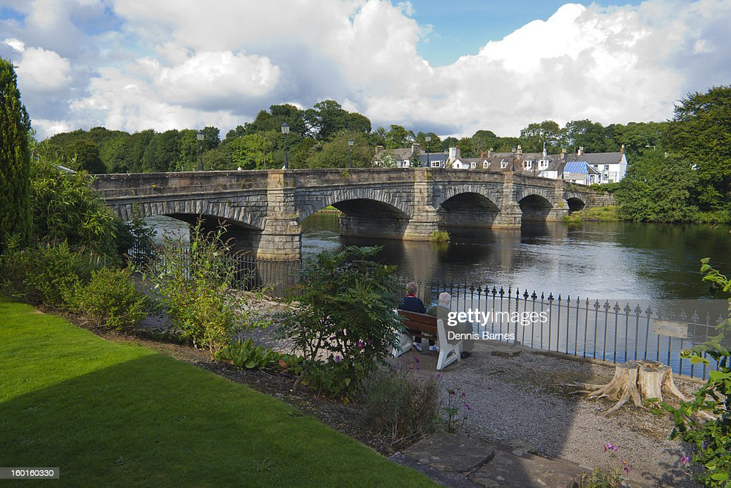 Brige over the River Cree at Newton Stewart : Stock Photo