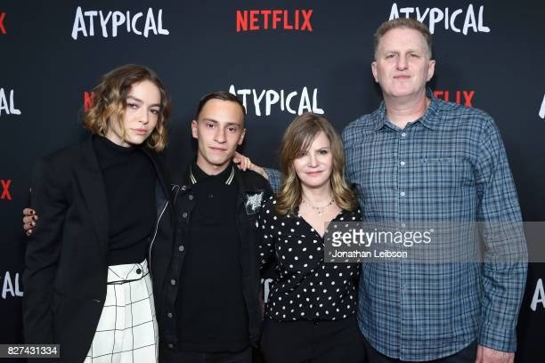 Brigette LundyPaine Keir Gilchrist Jennifer Jason Leigh and Michael Rapaport attend the Netflix original series 'Atypical' special screening on...