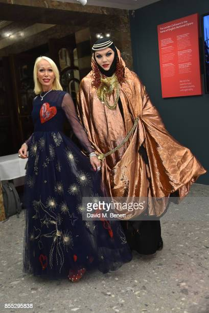 Brigette Reid and Danielle Lismore attend the press night of 'Aida' opening the English National Opera's new season at The London Coliseum on...