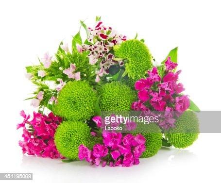 bouquet de verde brilhante Crisântemos : Foto de stock