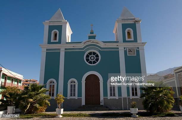 Bright church, San Felipe, Fogo, Cape Verde Islands, Africa