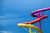 Bright Colored Water Slides