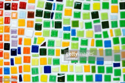 Bright colorful ceramic mosaic