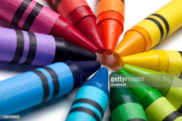 Bright Colorful Crayons