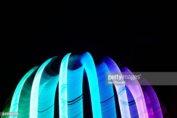 Bright Coloured Abstract Light Trails