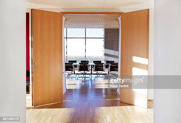 Bright empty stylish conference room