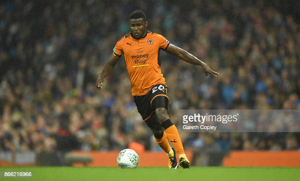 Bright Enobakhare of Wolverhampton Wanderers during the Carabao Cup Fourth Round match between Manchester City and Wolverhampton Wanderers at Etihad...
