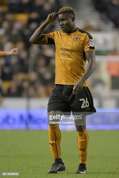 Bright Enobakhare of Wolverhampton Wanderers during the Sky Bet Championship match between Wolverhampton Wanderers and Aston Villa at Molineux on...