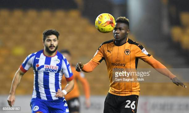 Bright Enobakhare of Wolverhampton Wanderers during the Sky Bet Championship match between Wolverhampton Wanderers and Wigan Athletic at Molineux on...