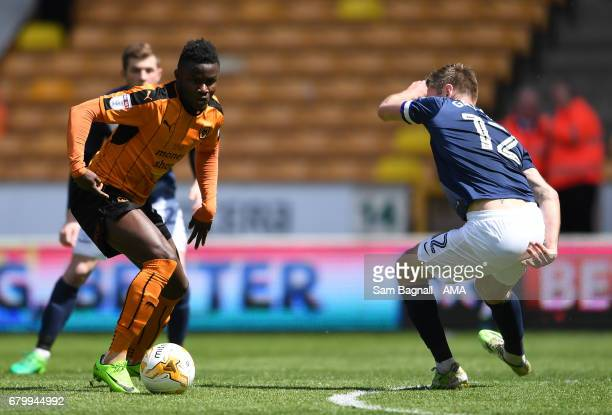 Bright Enobakhare of Wolverhampton Wanderers during the Sky Bet Championship match between Wolverhampton Wanderers and Preston North End at Molineux...