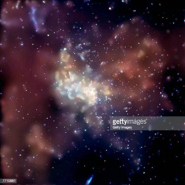 Bright flares are visible near the event horizon of a supermassive black hole at the center of our galaxy the Milky Way also known as Sagittarius A...