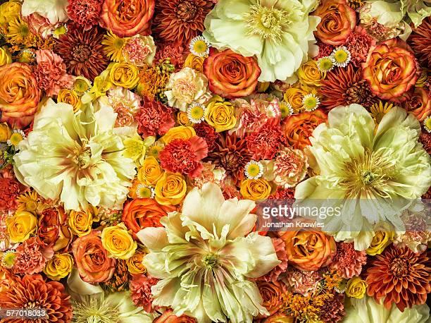 Bright flower arrangement, full frame