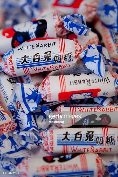 Bright Food Group Co White Rabbit brand candy is arranged for a photo in Shanghai China on Friday April 1 2011 Bright Food Group Co plans to list its...
