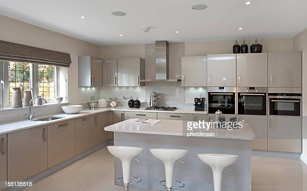 bright grey kitchen