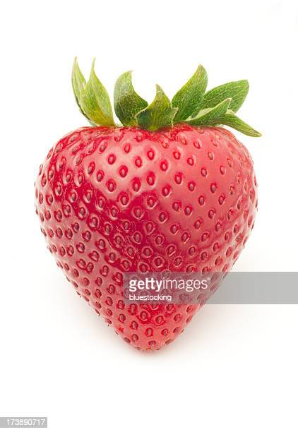 Bright red, delicious looking fresh strawberry