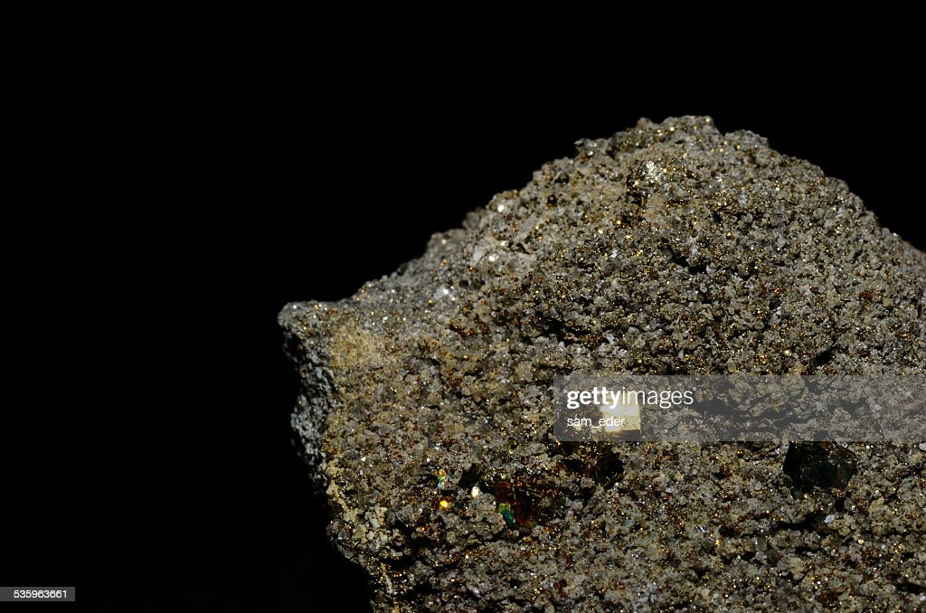bright shining pyrite cubes : Stock Photo