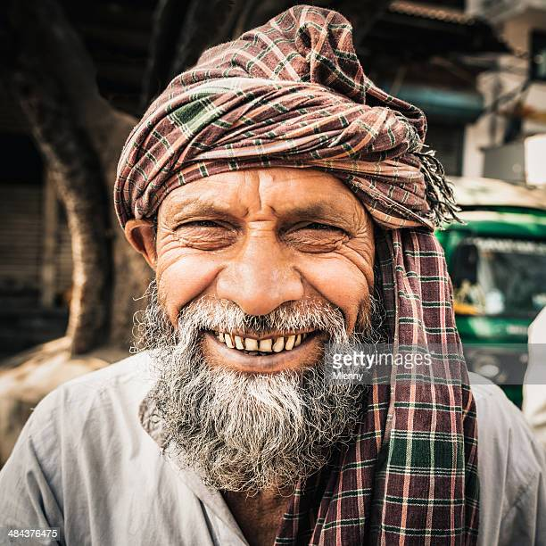 Bright Smiling Man India Real People Portrait