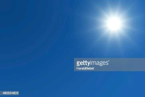 Sole brillante con spazio testo : Foto stock