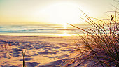 Beautiful beach scene located on the Gold Coast in Queensland Australia