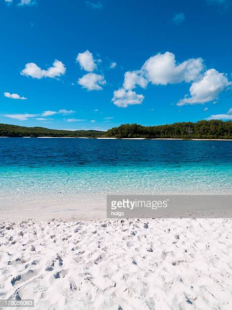 Bright White Sand of Lake McKenzie, Fraser Island