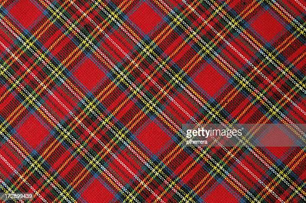 Couleurs vives tissu écossais rouge plan en diagonale