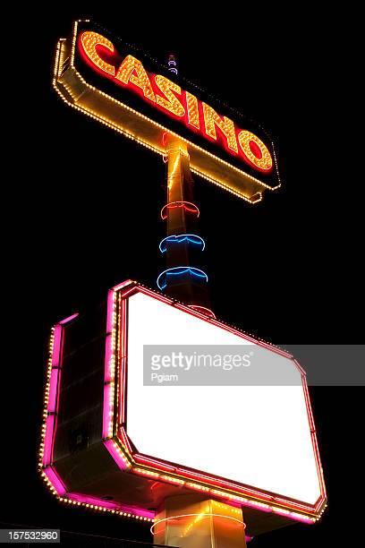 Brightly lit billboard